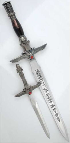 Egyptian Mummy Athame Set Dagger Wicca Wiccan Pagan Ceremonial Knife Altar Knife