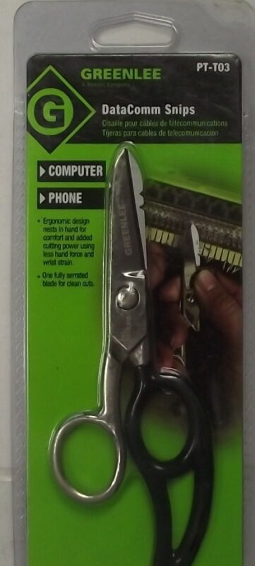 Greenlee PT-T03 Datacomm And Telecom Scissor Snips