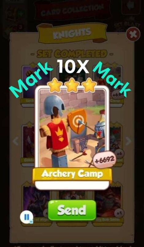 coin master cards Archery Camp 10X