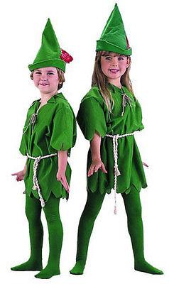 Child Unisex Peter Pan Lost Boys Robin Fancy Dress Costume Boys Girls Costume