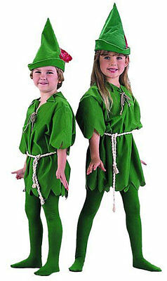 Peter Pan Kid Costume (CHILD RENAISSANCE MEDIEVAL PETER PAN ELF GREEN GIRLS COSTUME KIDS COSTUMES)