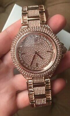 Michael Kors CAMILLE Rose Gold-tone Pave Glitz Ladies Watch MK5862