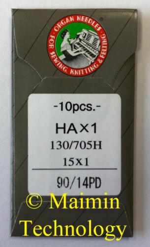 10 ORGAN TITANIUM HOME EMBROIDERY MACHINE NEEDLES 90/14 SHARP 15X1 PD