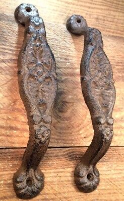 """2 Door Barn Cast Iron Gate Pull Shed Handle Rustic Antique Style Handles 9-1/8"""""""