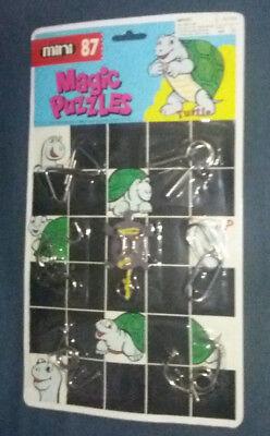 Magic Puzzles Turtle mini 87 sous blister Vintage Casse-tête chinois