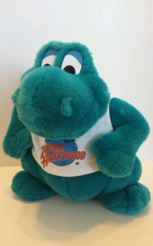 Planet hollywood teal plush stuffed dinosaur bubba 9 for Planet hollywood t shirt