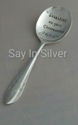New Baby Naming/Christening/Baptism spoon-vintage silver plate personalised gift
