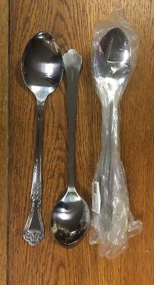 Winco Le-13 13-inch Elegance Solid Serving Spoon Stainless Steel