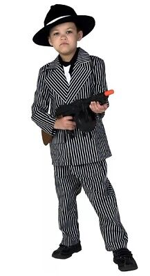 Gangster Child Boy Deluxe Costume, Size Large NWT