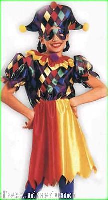 COCO THE CLOWN JESTER JOKER CHILD HALLOWEEN COSTUME GIRL'S SIZE LARGE ](Joker Halloween Girl)