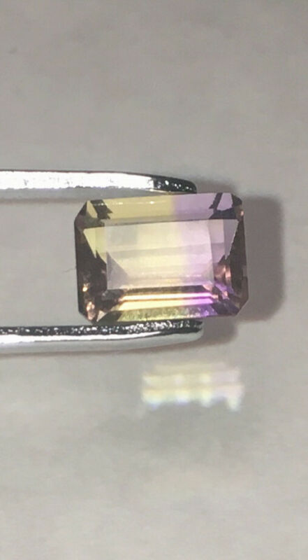 Ametrine 1.75 Carat 9mm x 7mm Emerald Cut Loose Gem Stone