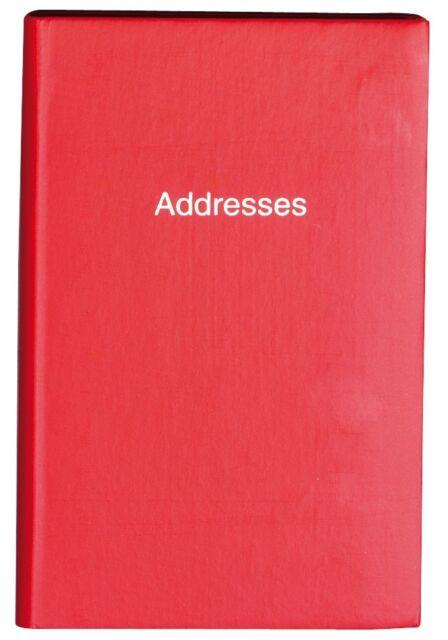 A7 Small Mini Red Hard Back Pocket Telephone & Address Index Book – EL2