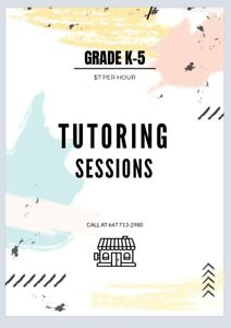 Tutoring sessions for only $7/hour!