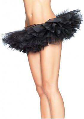 LA-A1705 Sexy Black Organza Tutu Skirt Women's Halloween Costume Rave Raver Wear (Halloween Rave Wear)