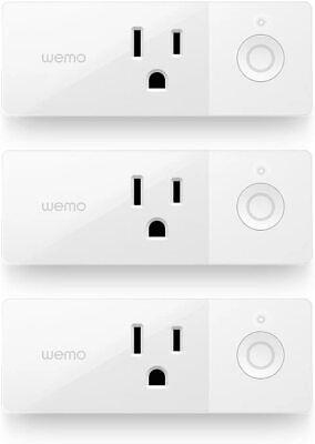 3 Pack Wemo Mini Smart Plug, WiFi Ready Works with Alexa, Google & Apple Homekit