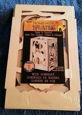 4.25 x 6.5 inch DIY Wood Halloween Luminary Kit candle & paint not included  - Halloween Luminaries Diy