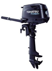 2018 Tohatsu 6 Hp 4 Stroke Outboard Motor Tiller 20