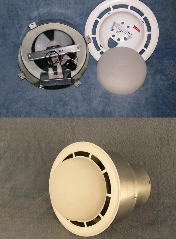 Mobile Home Vent Fan w/light. Made by Ventline. Vertical Exhaust. Free Shipping