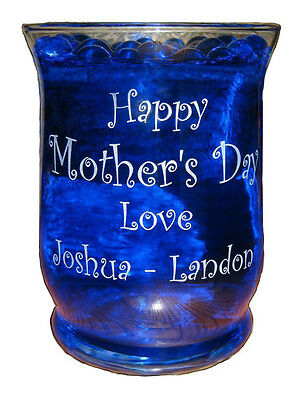 Flower Vase Personalized Happy Mother's Day or Fathers Day Hurricane Style  - Personalized Vase