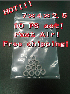 Free shipping For Shimano Daiwa ETC Reel Handle Knob bearings 10 pc set  MR74ZZ