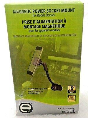 E2PM USB Magnetic Phone GPS Car Power Socket Mount Flex Neck 360 Rotation  Usb Flex Neck