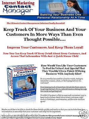 Internet Marketing And Small Business Owner Contact Manager Pc Software - Cddvd
