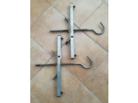 Lockable Universal Roof Rack Ladder Clamps - Heavy Duty