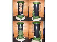 Petit Godin Stove / Wood Burner / Multifuel, Green and Black
