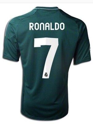 7887945814d ADIDAS RONALDO 7 REAL MADRID CHAMPIONS STADIUM SOCCER JERSEY 2012 13 Size M