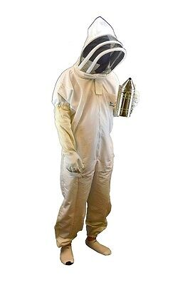 Professional-grade Bee Suit Beekeeper Suit With Gloves- Medium Size