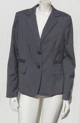 Neu Banana Republic Damen Grau Nadelstreifen Waschbar Jacke Anzug Jacke Größe 12 - Waschbar Anzug Jacke