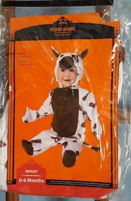 Baby Infant Boy or Girl Plush Cow Halloween Costume 0-6 Months NEW NIP