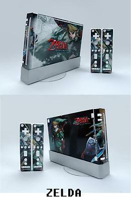Skin Sticker Cover For NintendoWii Console and 2 Remotes ZELDA 061