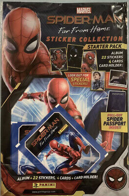 Panini SPIDER-MAN FAR FROM HOME STARTER PACK ALBUM Stickers & Collector Cards