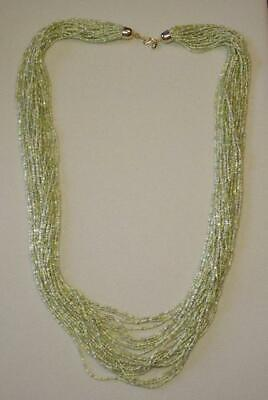 """JOAN RIVERS GOLD PLATED GREEN SEED BEAD TORSADE 36"""" NECKLACE NEW IN BOX"""