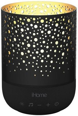 iHome Zenergy Meditative Light and Sound Therapy Candle in Black