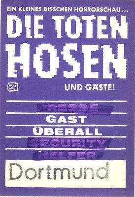 Die Toten Hosen - alter Gast Pass Dortmund EIN KLEINES BISSCHEN HORRORSCHAU...