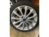 "16"" FORD FIESTA MK 7/8 Titanium 16 Spoke ALLOY wheel And TYRE Zetec 5mm K1"