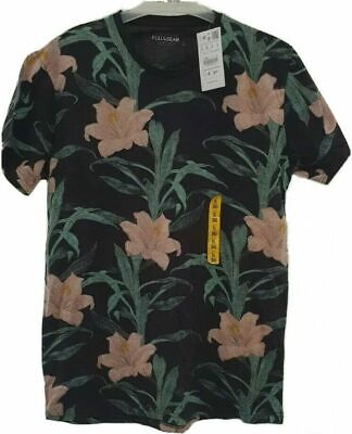 Pull and Bear Floral Design T-Shirt - Small - 36 Inch Chest,...