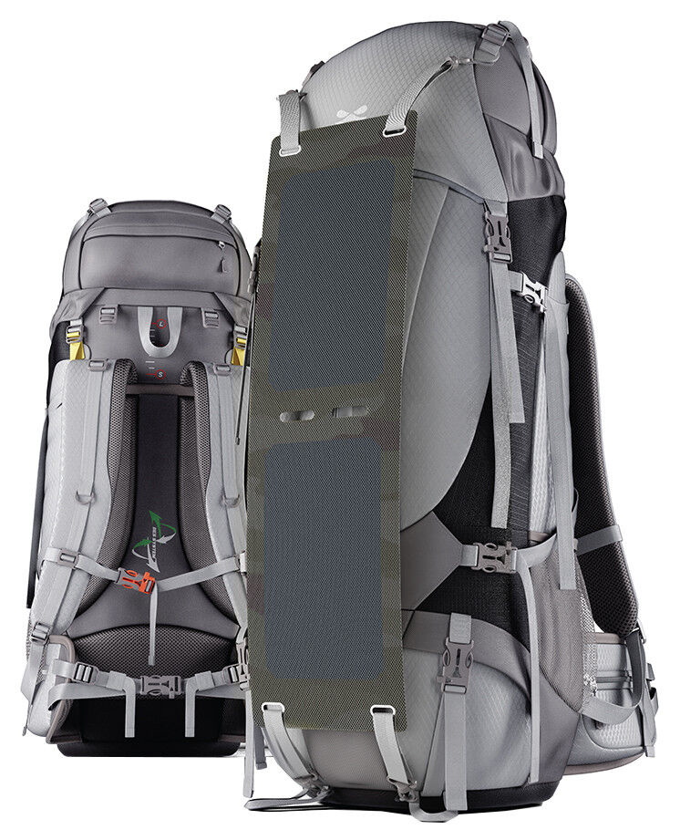 Solar Charging Camping Backpack | Ghostek NRGcamper 60L Outdoor Hiking Trekking