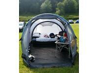 Pump up tent.