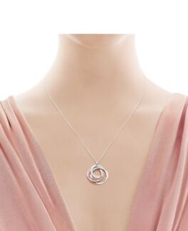 Tiffany & Co interlocking  circles pendant and chain