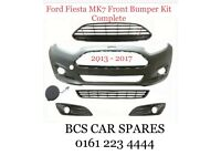 2013-2017 Ford Fiesta MK7 Front Bumper Kit Complete Not Primed Brand New