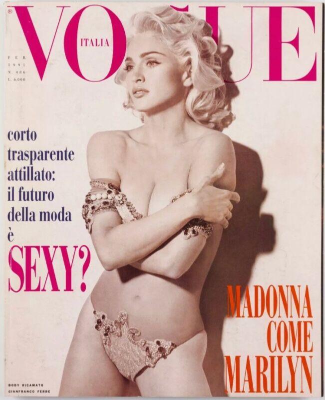 RARE MADONNA VOGUE MAGAZINE Feb 1991, Erotica Era Hippie HTF