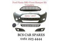 Ford. Fiesta. Mk 9. Front. Bumper complete inc grills. 2013. 2014. 2015