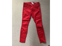 Zara red trousers size 36