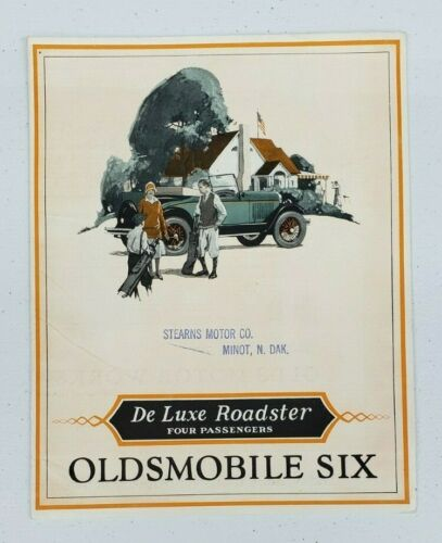 1927 Oldsmobile Six Deluxe 4P Roadster Sales Folder
