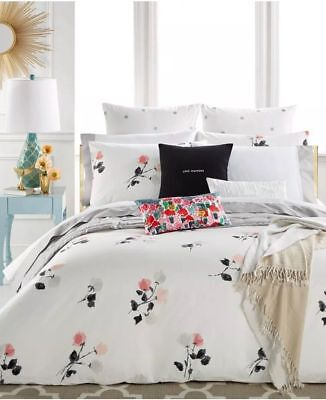 KATE SPADE NEW YORK Willow Court FULL/QUEEN 3pc Comforter Set WHITE GRAY BLUSH Kate Comforter Set