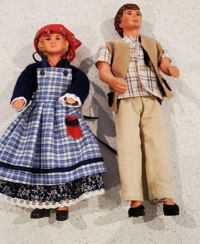 West German Hűckel Dollhouse 1:12 dolls