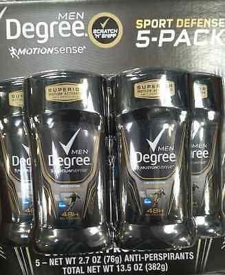5 X 2 7 Oz Degree Mens Motionsense Sport Defense Antiperspirant Deodorant
